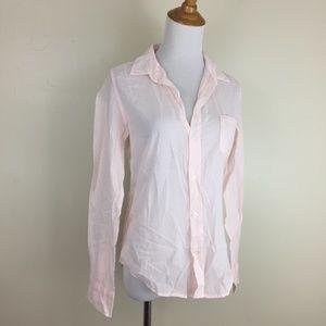 NWOT Frank & Eileen Light Blush Voile Cotton Shirt